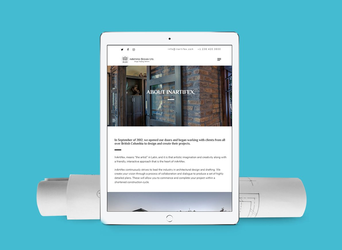 Website design example for an architectural firm